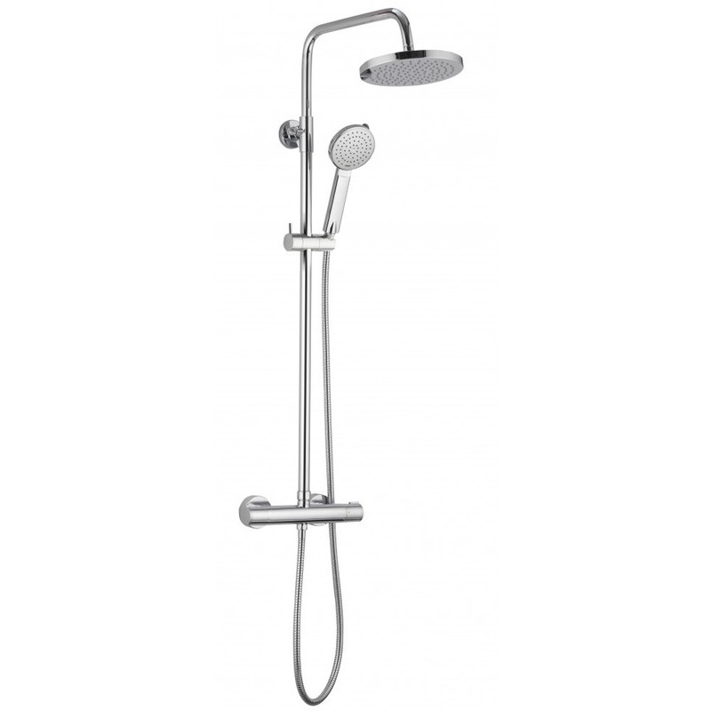 Pura Arco Dual Outlet Bar Valve with Fixed & Adjustable Heads