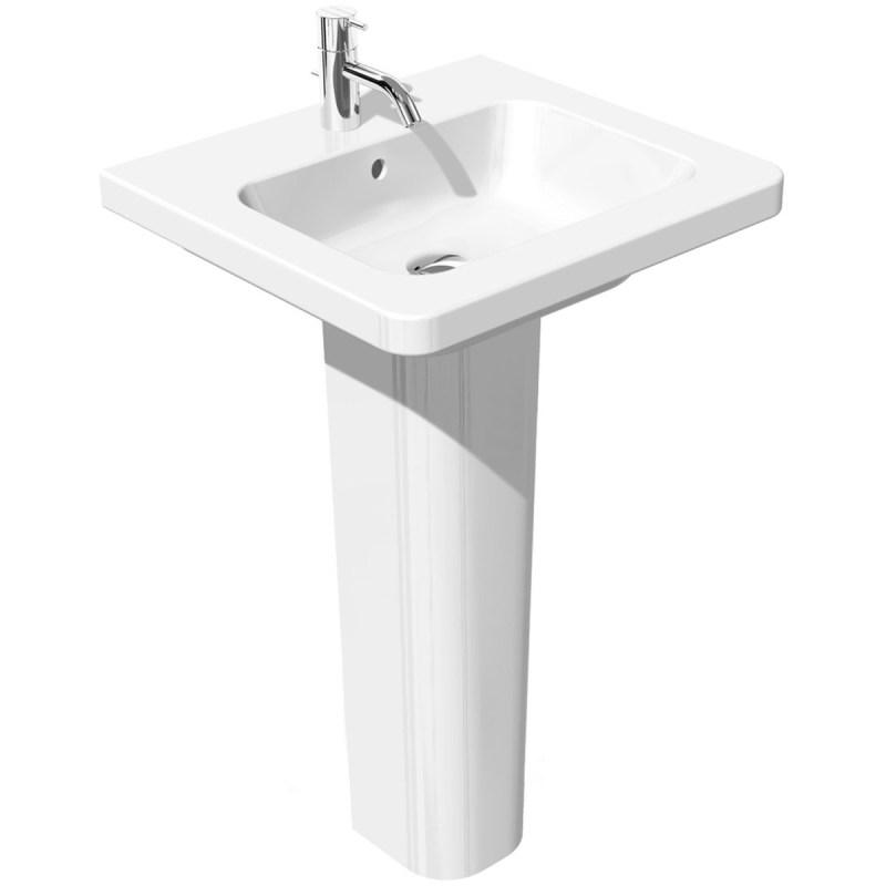RAK Resort 650mm Slimline Basin with Full Pedestal