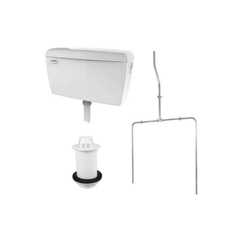 RAK Exposed 9.0 Litre Urinal Cistern Pack for 2 Urinals