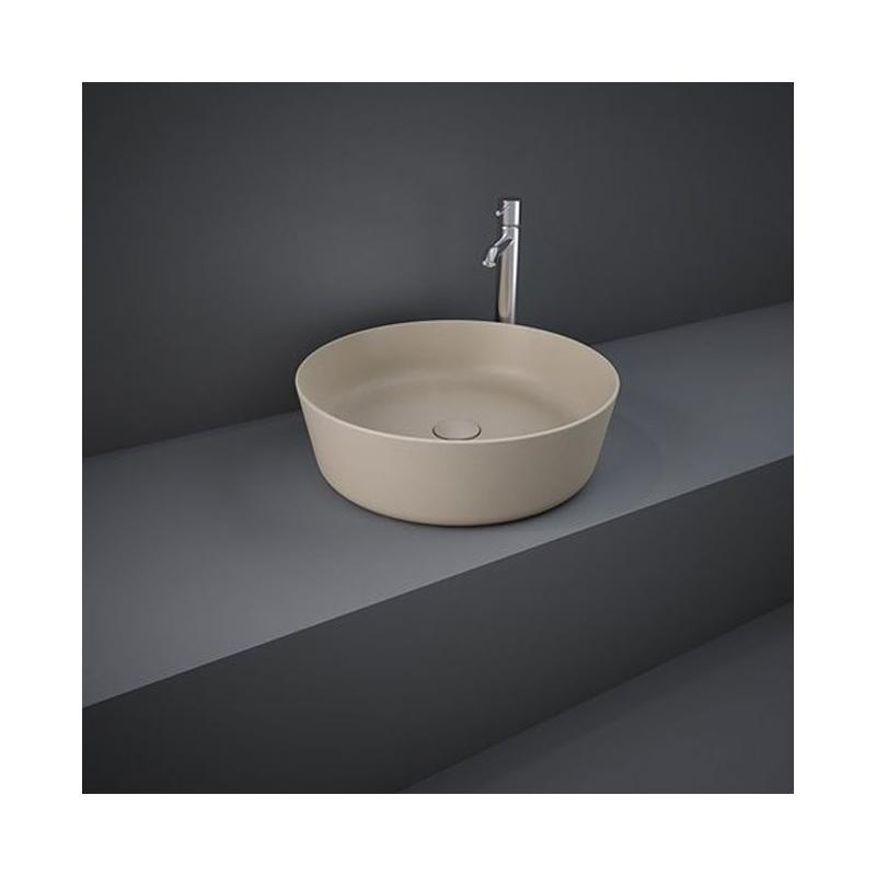 RAK Feeling 42cm Round Counter Wash Basin Matt Cappuccino