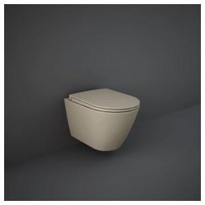 RAK Feeling Rimless Wall Hung Pan & Soft Close Seat Matt Cappuccino