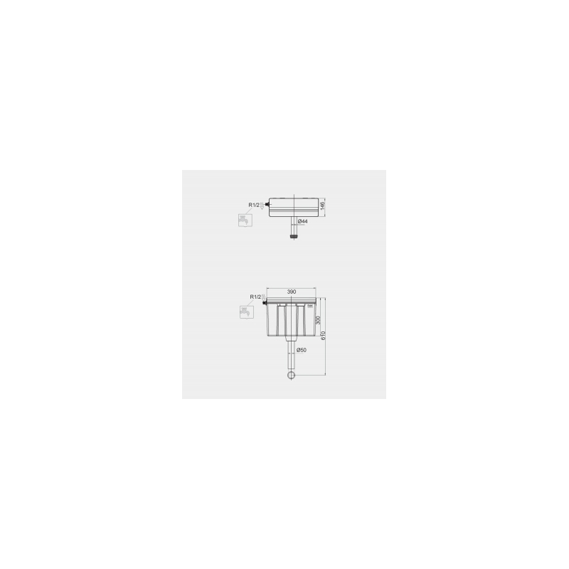 RAK Ecofix Side Inlet Concealed Cistern for Furniture with Push Button