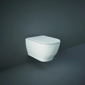 RAK Moon Rimless Wall Hung Pan with Soft Close Seat