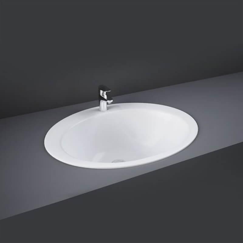 RAK Jessica 53cm Over Counter Wash Basin 2 Tap Holes