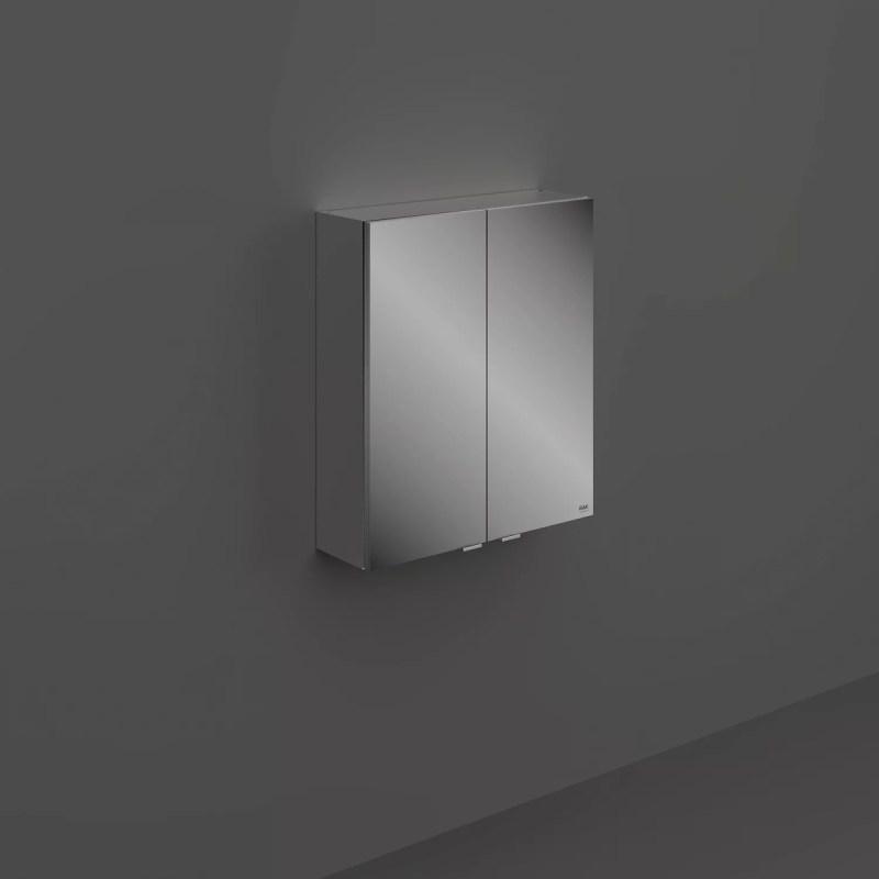 RAK Joy Wall Hung 2 Door Mirror Cabinet 60cm