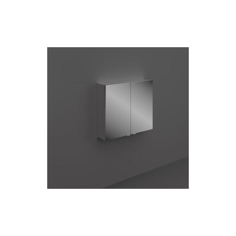 RAK Joy Wall Hung 2 Door Mirror Cabinet 80cm