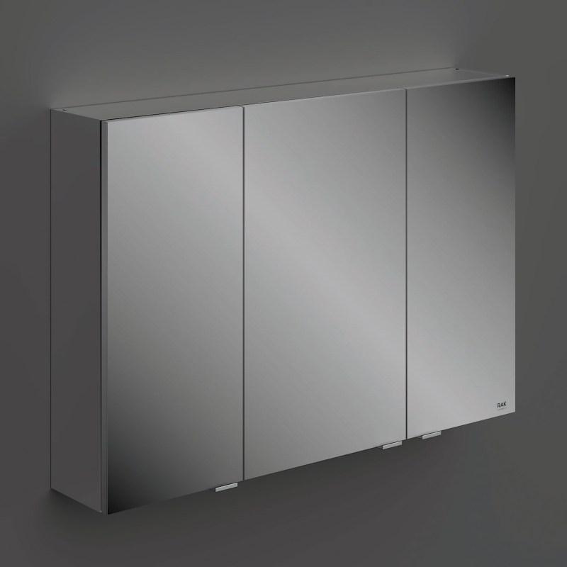 RAK Joy Wall Hung 3 Door Mirror Cabinet 100cm