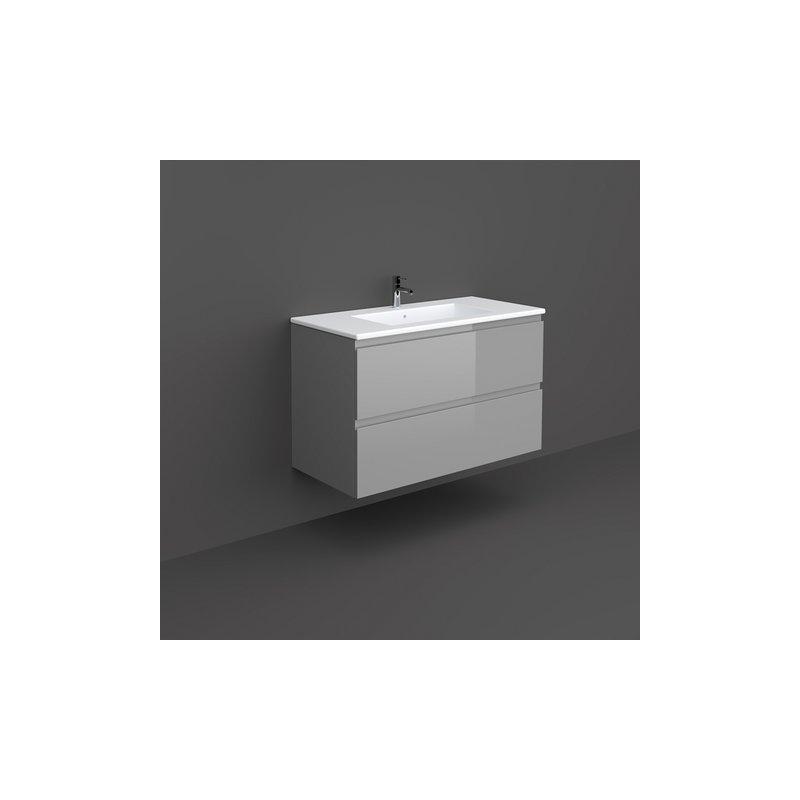 RAK Joy Wall Hung Vanity Unit 100cm Urban Grey