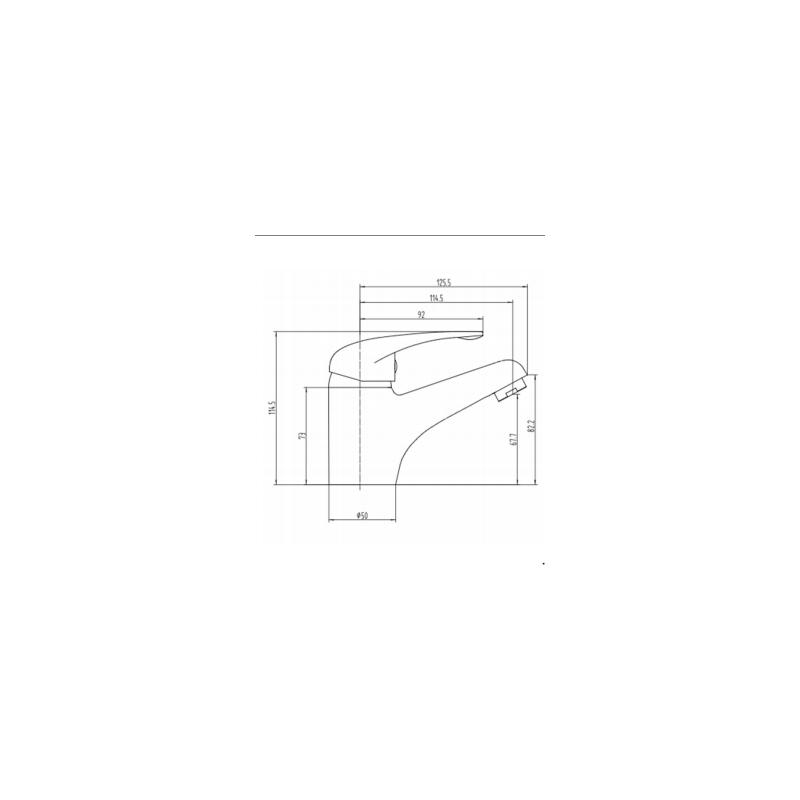 RAK Basic Mono Basin Mixer with Clicker Waste
