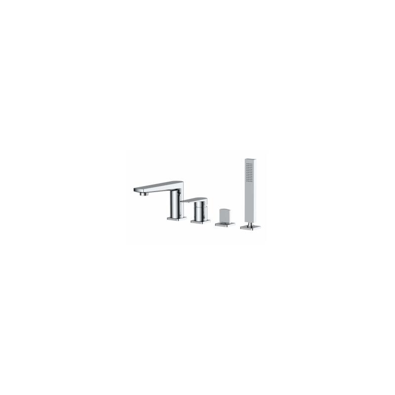 RAK Blade 4 Hole Deck Mounted Bath Shower Mixer