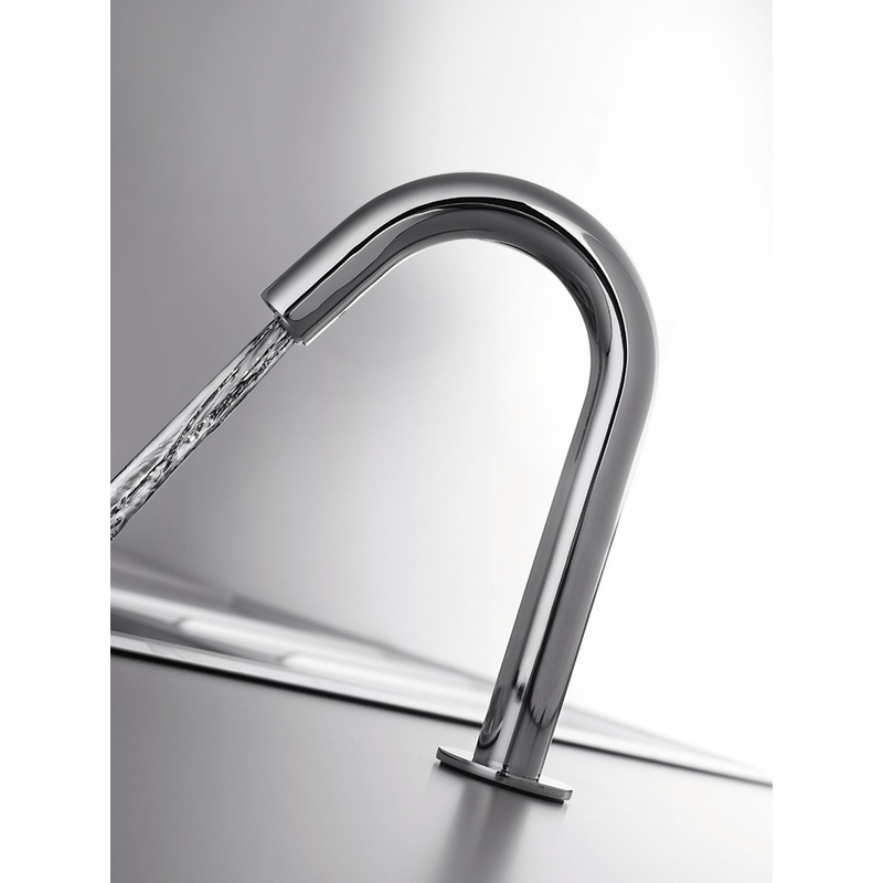 RAK Compact Commercial Tall Curved Deck Mounted Infra Red Tap