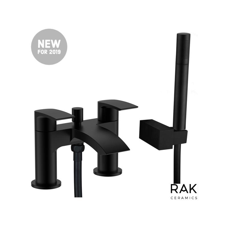 RAK Curve Bath Shower Mixer Black