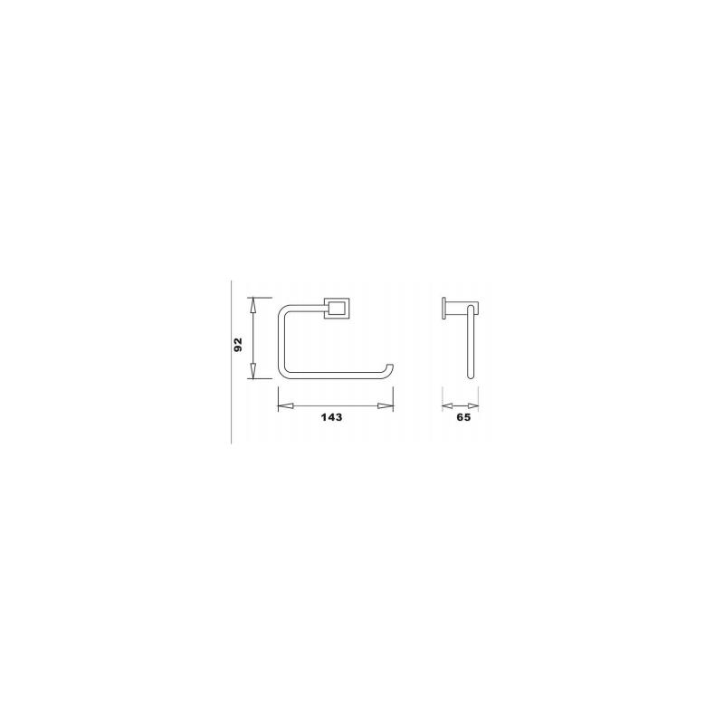 RAK Cubis Toilet Roll Holder Chrome