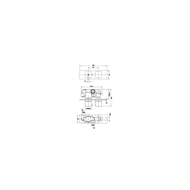 RAK Feeling Square Single Outlet Thermostatic Shower Valve White