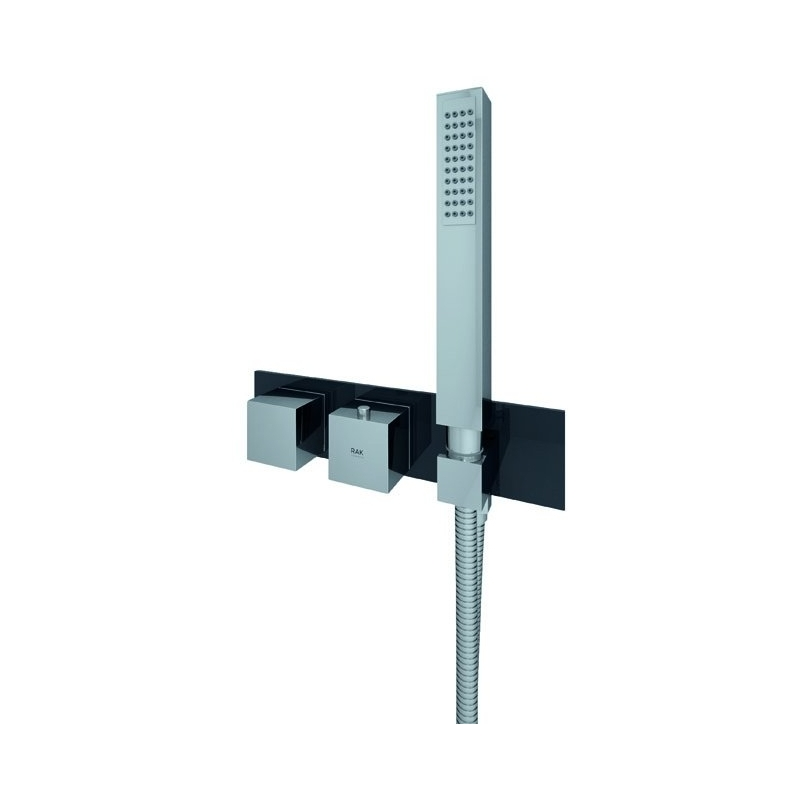 RAK Feeling Square Horizontal Shower Valve with Wall Outlet Black