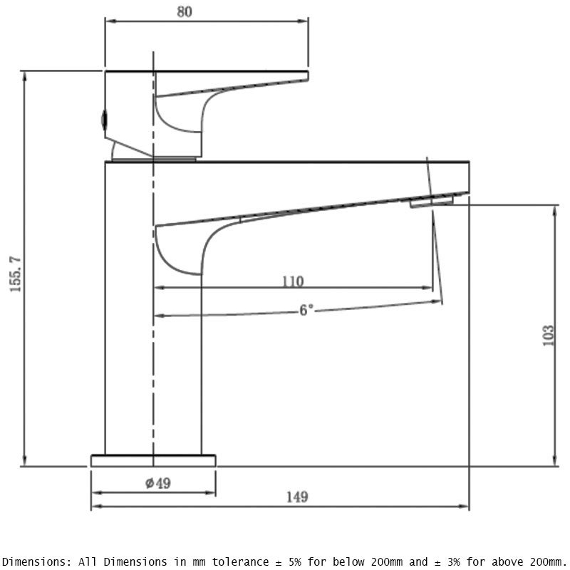 RAK Ischia Standard Basin Mixer Matt Black