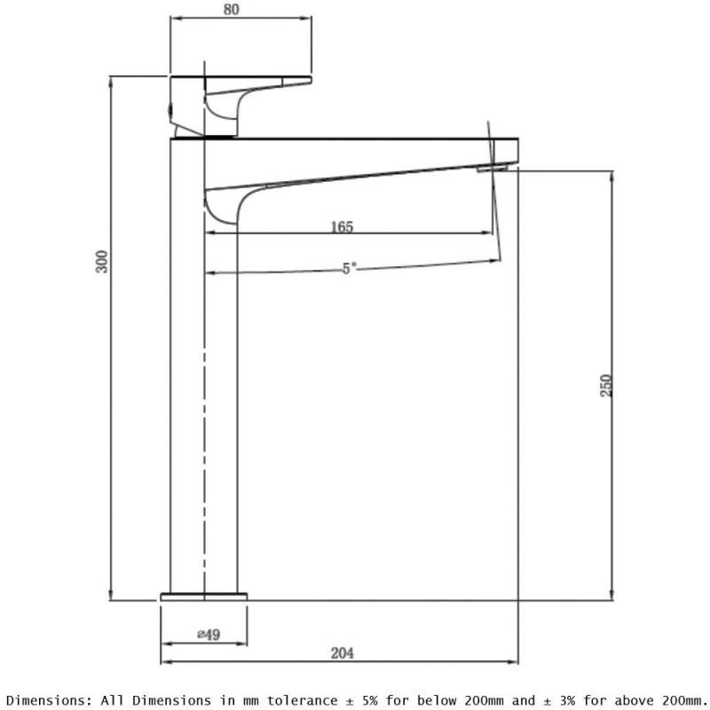 RAK Ischia Tall Basin Mixer Chrome