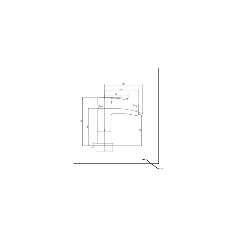RAK Metropolitan Mini Mono Basin Mixer (No Waste)