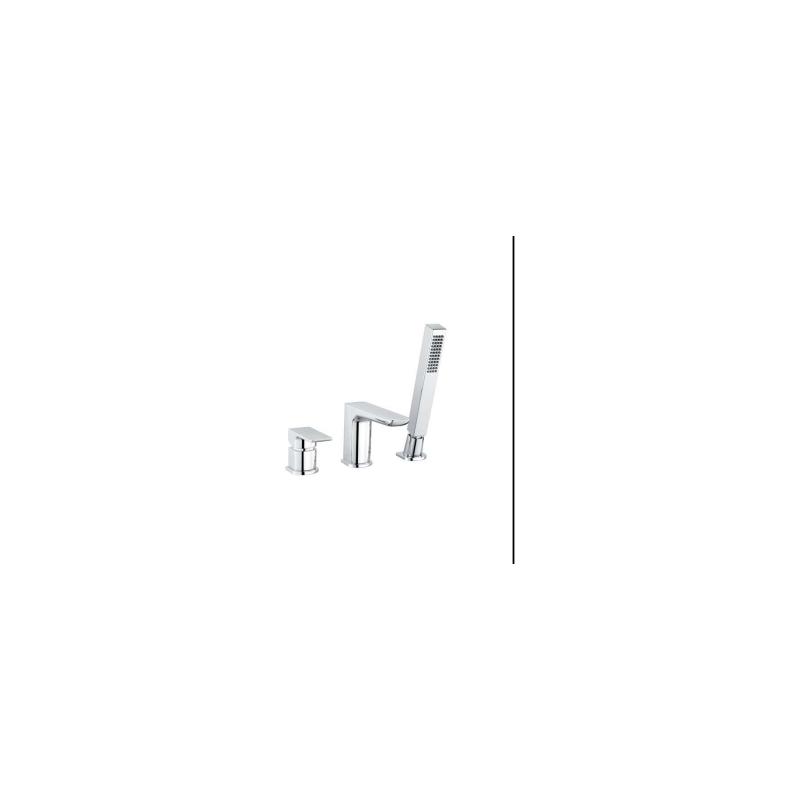 RAK Moon 3 Hole Deck Mounted Bath Shower Mixer Chrome