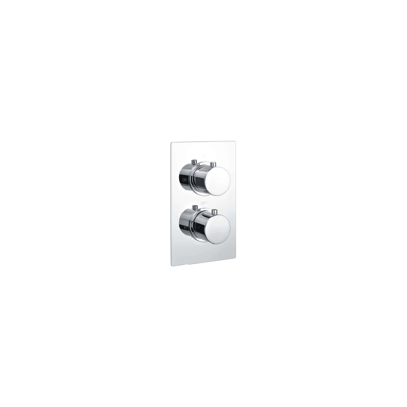 RAK Round Single Outlet, 2 Handle Thermostatic Shower Valve