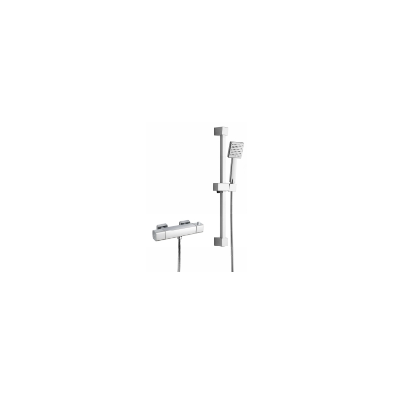 RAK Cool Touch Square Thermostatic Shower Valve with Kit (WRAS)