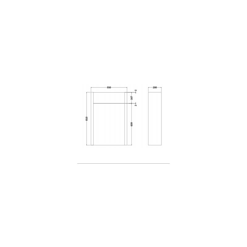 RAK Washington 550mm WC Unit Greige