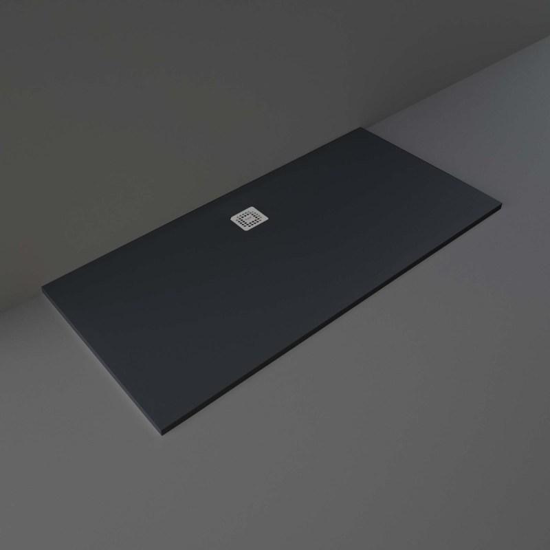 RAK Feeling Bathtub Replacement Shower Tray 80x170cm Solid Black