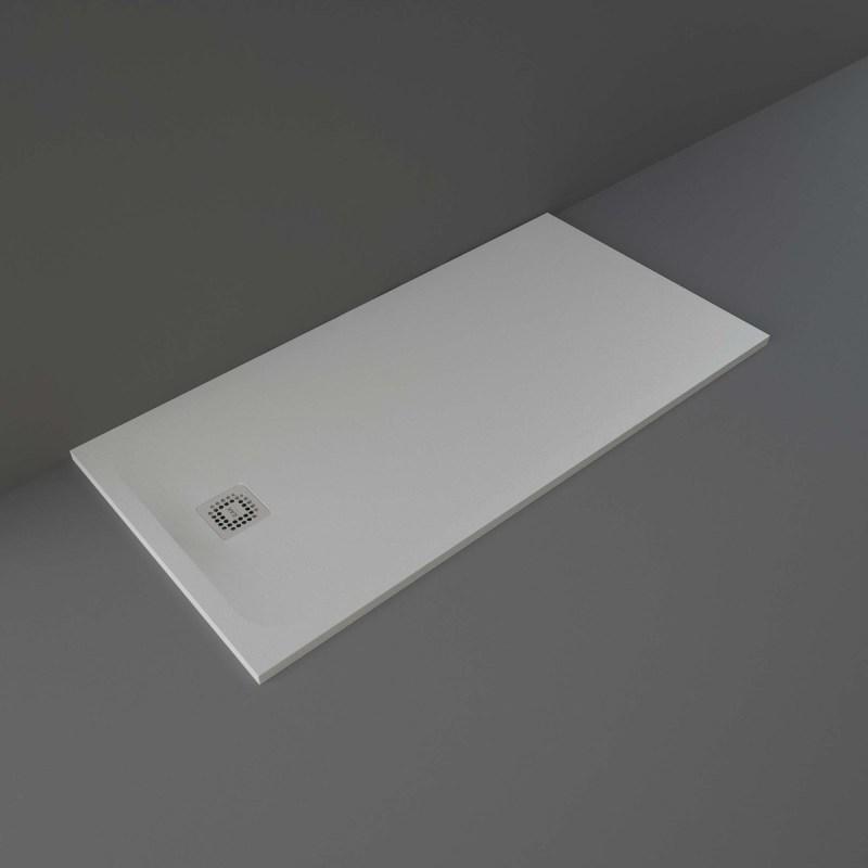 RAK Feeling Shower Tray Solid Grey 80x160cm