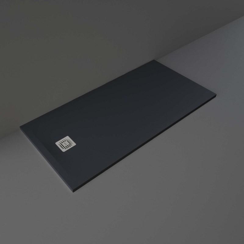 RAK Feeling Shower Tray Solid Black 80x160cm