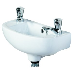 RAK Compact Slim 450mm Cloak Basin 1 Tap Hole RH