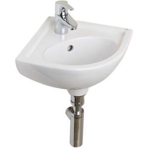 RAK Compact 315mm Corner Basin 1 Tap Hole
