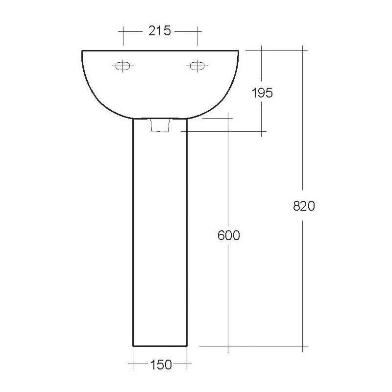 RAK Compact Pedestal Small