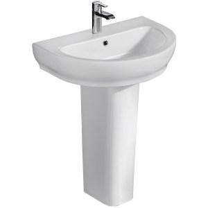 RAK Harmony 800mm Slimline Basin with Full Pedestal