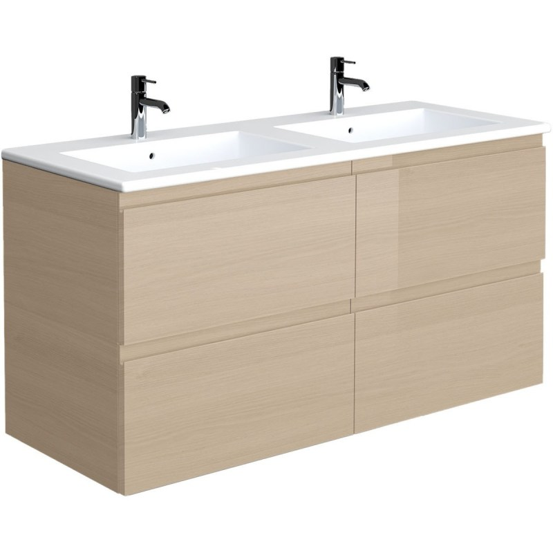 RAK Joy Oak 1210mm Wall Hung Vanity Unit & Basin