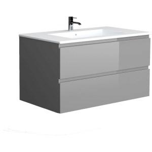 RAK Joy Urban Grey 1010mm Wall Hung Vanity Unit & Basin