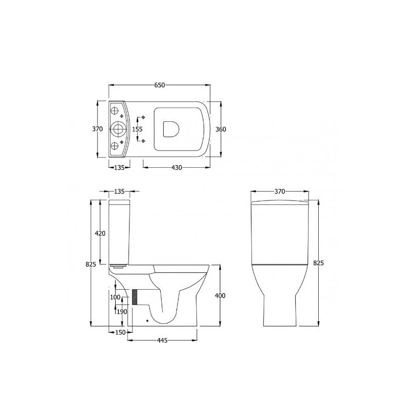 RAK Summit Back to Wall Toilet with Soft Close Seat