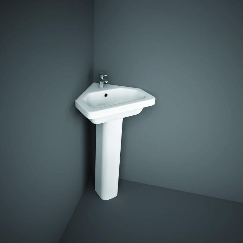 RAK Resort Slim Pedestal for 50cm Basin & 45cm Corner Basin