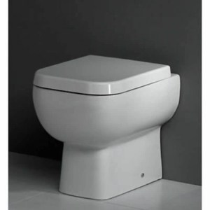 RAK Series 600 Back To Wall Pan with Slimline Wrap Over Seat