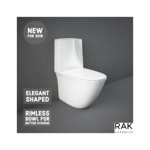 RAK Sensation Back To Wall Pan, Touchless Cistern & Soft Close Seat