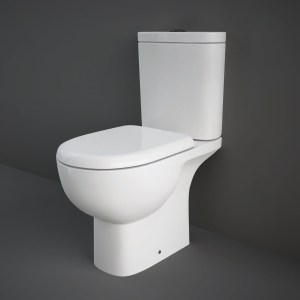 RAK Tonique Open Back WC Pan, Cistern & Soft Close Seat