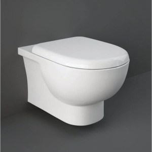 RAK Tonique Rimless Wall Hung Pan with Soft Close Seat