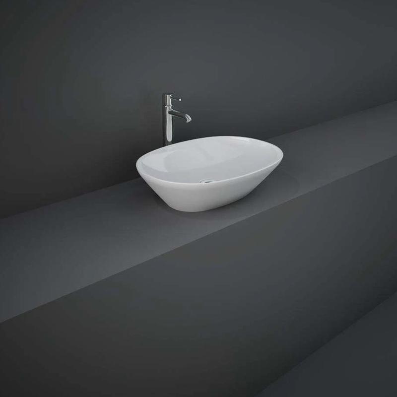 RAK Variant Oval Counter Wash Basin 50cm Alpine White