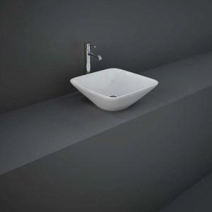 RAK Variant Square Counter Top Basin 36cm Alpine White