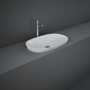 RAK Variant Elongated Oval Drop-In Wash Basin 60cm Alpine White