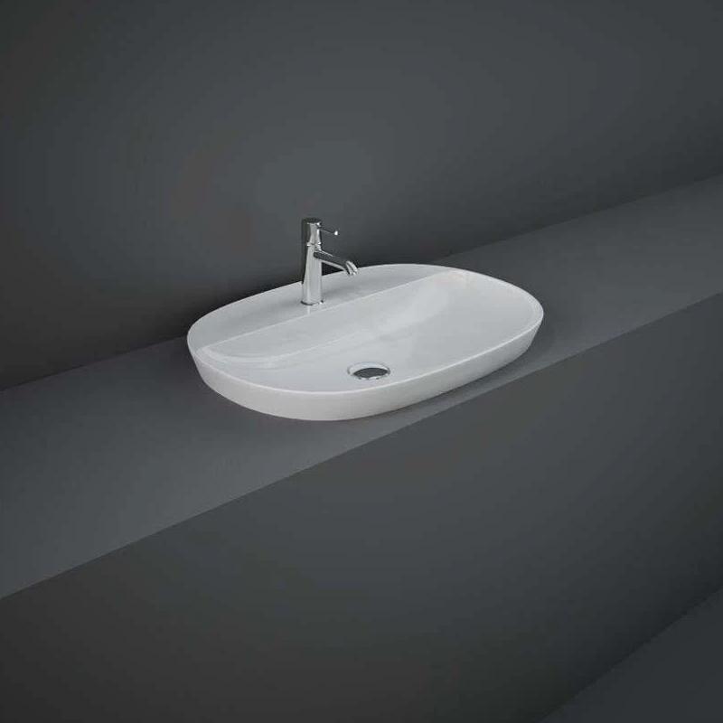 RAK Variant Elongated Oval Drop-In Wash Basin 60cm 1 Tap Hole