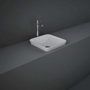 RAK Variant Square Drop-In Wash Basin 36cm Alpine White