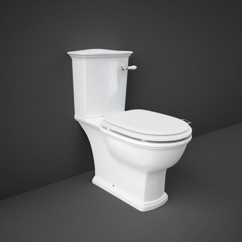 RAK Washington WC with Lever Handle & Matt White Seat