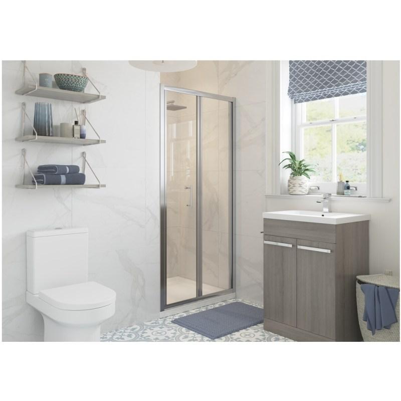 RefleXion Classix Framed 700mm Bi-Fold Shower Door