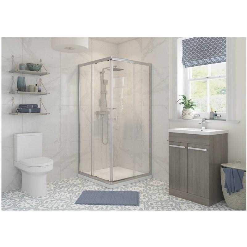 RefleXion Classix 900mm Corner Entry Shower Door