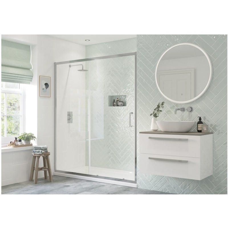 RefleXion Flex Framed 1100mm Sliding Shower Door